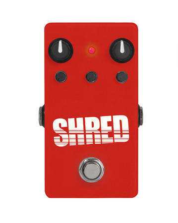 guitar effect pedal on white - Shred