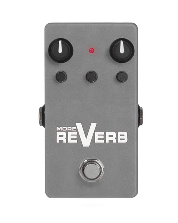 reverb: guitar effect pedal on white - More Reverb Stock Photo