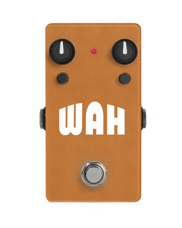 guitar effect pedal on white - Wah