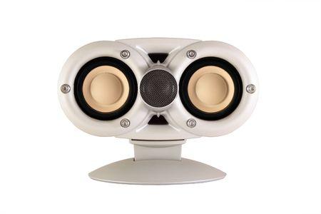 White speaker isolated on white background
