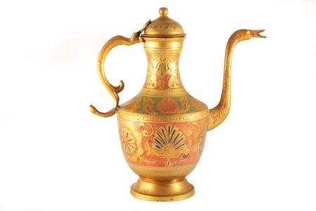 Antique Lamp isolated on white background Stock Photo