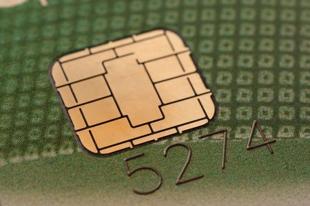 Amazing close-up of chip on a credit card Stock Photo - 3011742
