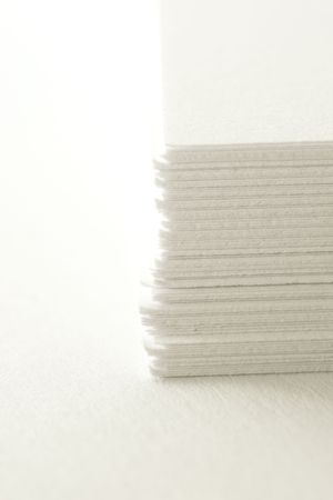 Close up of the office paper on white background
