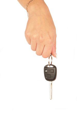 Hand Holding New Car Key