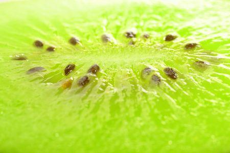 Amazing close-up of kiwi slice (5x)