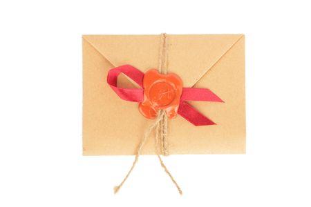 Retro Envelope isolated on white background