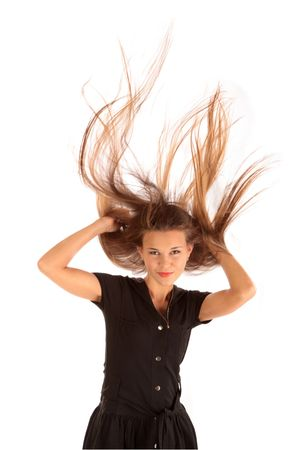 Beautiful long hair in motion  Stock Photo