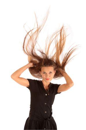 Beautiful long hair in motion  Stock Photo