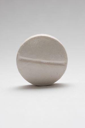 White Pill isolated on white background Stock Photo