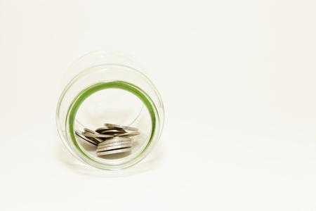 Jar with cash inside
