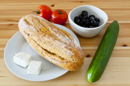Food from the Mediterranean for a healthy quick meal