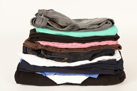 Old clothes for the charity shop or a jumble sale
