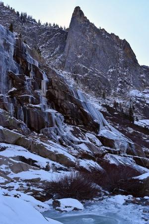 Frozen Tokopah Falls, Kings Canyon, California