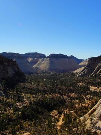 Springdale, Utah - December 06 2017: Zion Canyon National Park
