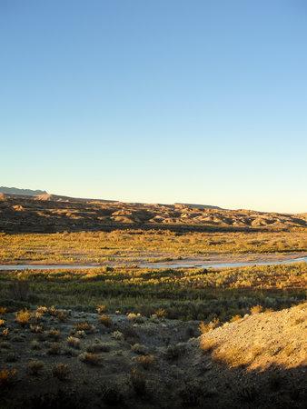 Sunrise along the Virgin River south of Mesquite, Nevada