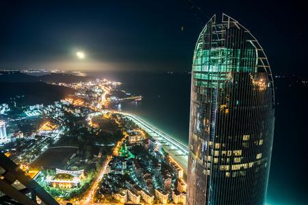 Cityscape of Xiamen at night