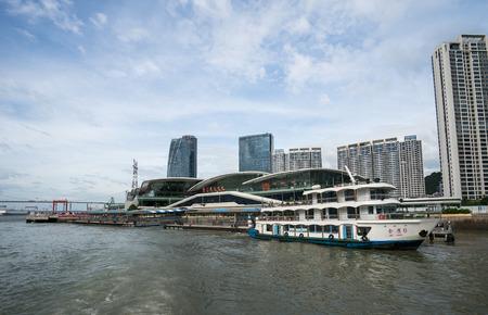 commercial docks: Xiamen international cruiser port Editorial