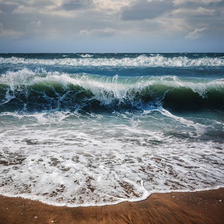 shorebreak: Shorebreak Ocean Waves in Tropical Beach