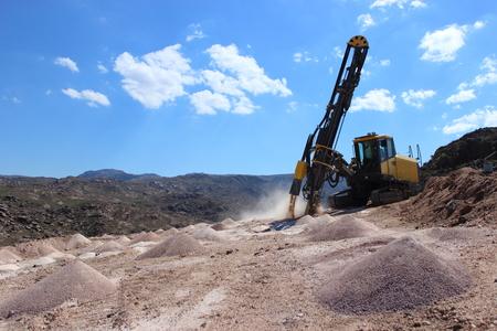 working rock drill