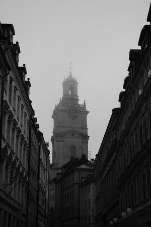 Stockholm church fog photo
