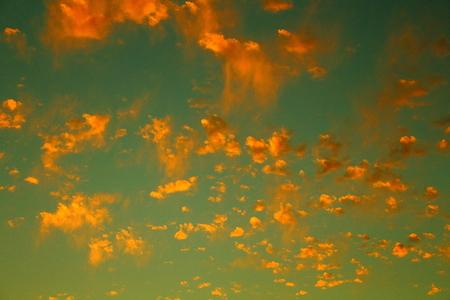 golden: golden clouds Stock Photo