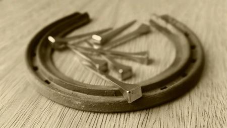 metal tips: Horseshoe Stock Photo