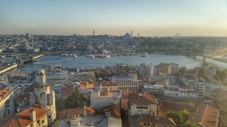 urban: Top view of Istanbul