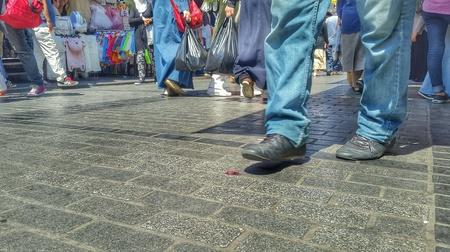 apparel: Walking through Jerusalem Stock Photo