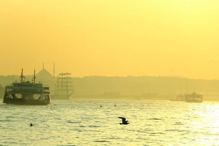 aya sofia: bosphorus at golden hour