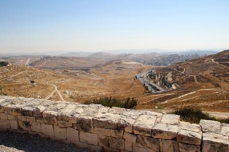 israel war: belen between mountains Stock Photo