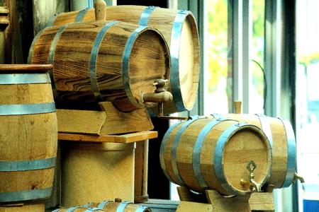 casks: wine casks Stock Photo