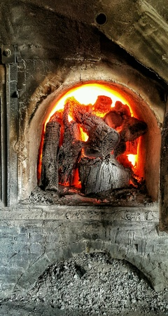 industry: Lime kiln burning