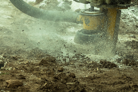 are working: rockdrilling working