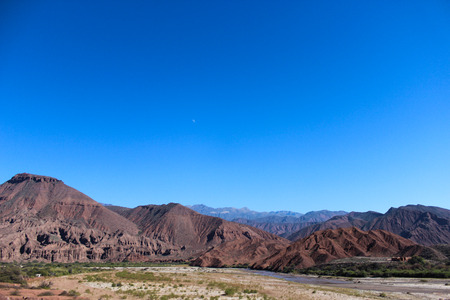 andes: Natural river at Andes mountains Stock Photo