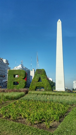 the obelisk: Obelisk of Buenos Aires Stock Photo