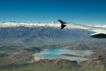 sky is the limit: lake and Andes mountains