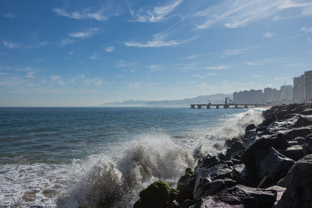 turism: breaking waves Stock Photo
