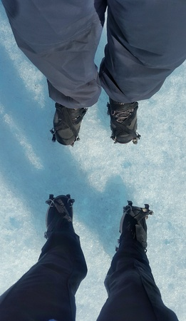 pants: Standing on the glacier Perito Moreno, Argentina