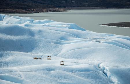 caulk: Perito Moreno glacier ice in bar