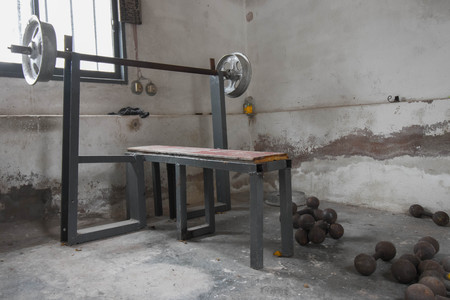 improvised gym