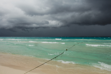 tropical storm over the sea