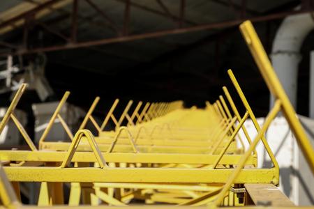 conveyor belt under construction