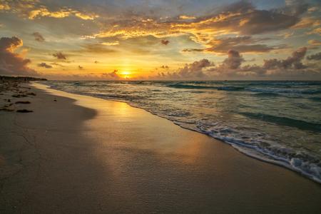 Sunrise in the Caribbean Stockfoto