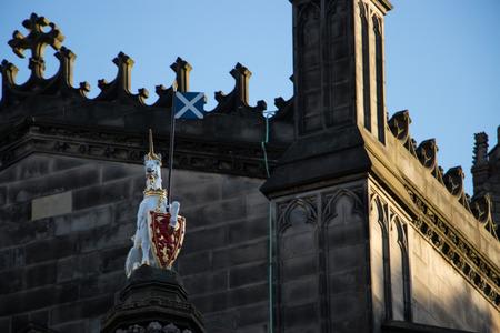 unicorn with scotland flag