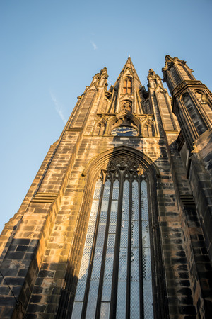 edinburgh cathedral seen from below