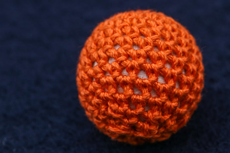orange wool sphere