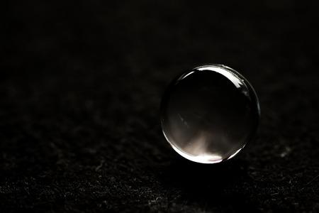 crystal ball on black background Stockfoto