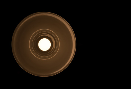 lamp lit at night Standard-Bild - 112533527