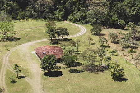view from above of wild refuge in amazon rainforest Standard-Bild