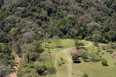 view from above of wild refuge in amazon rainforest Stock Photo
